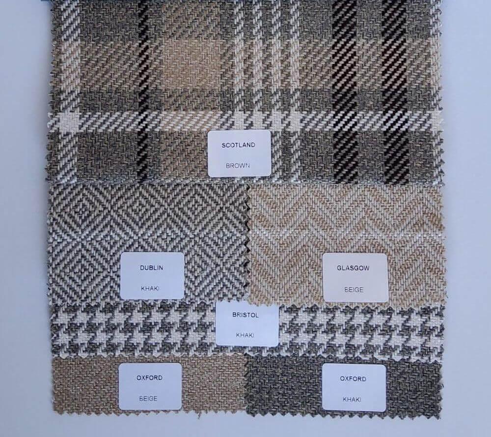 Oxford brown bútorszövet